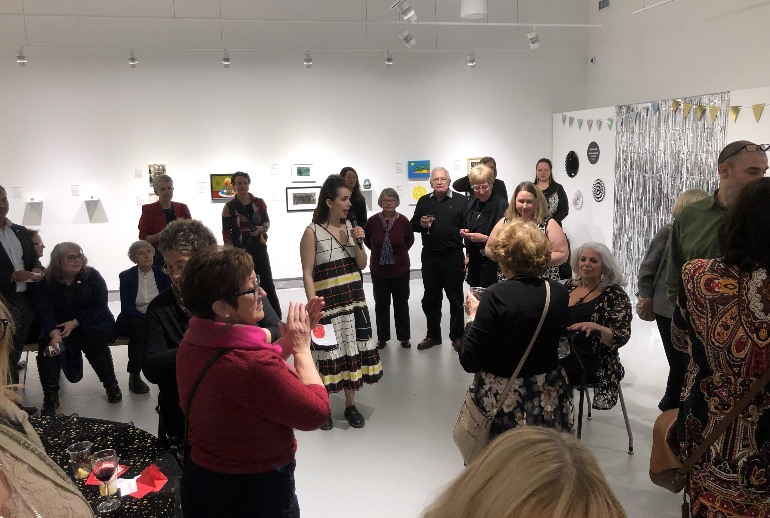Art gallery gathering