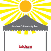 Latcham's Creativity Tent Session 1 _ Mixed Media Sketchbook Cover